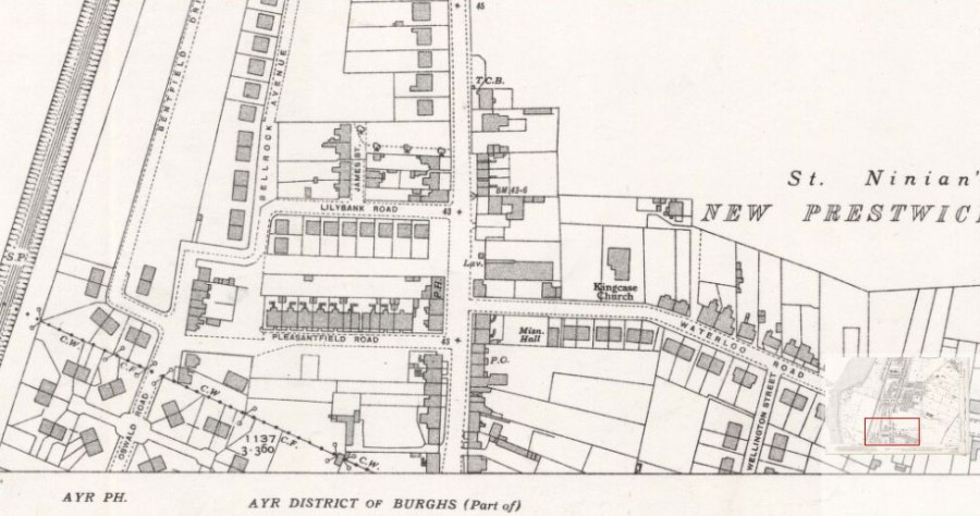 Prestwick Toll - 1938 Ordinance Survey Map