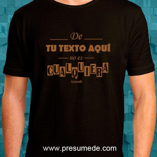 Camiseta personalizada no es cualquiera dorada