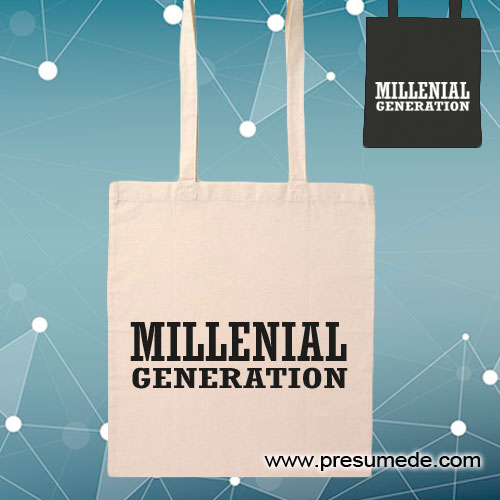 Bolsa de algodón millenial generation