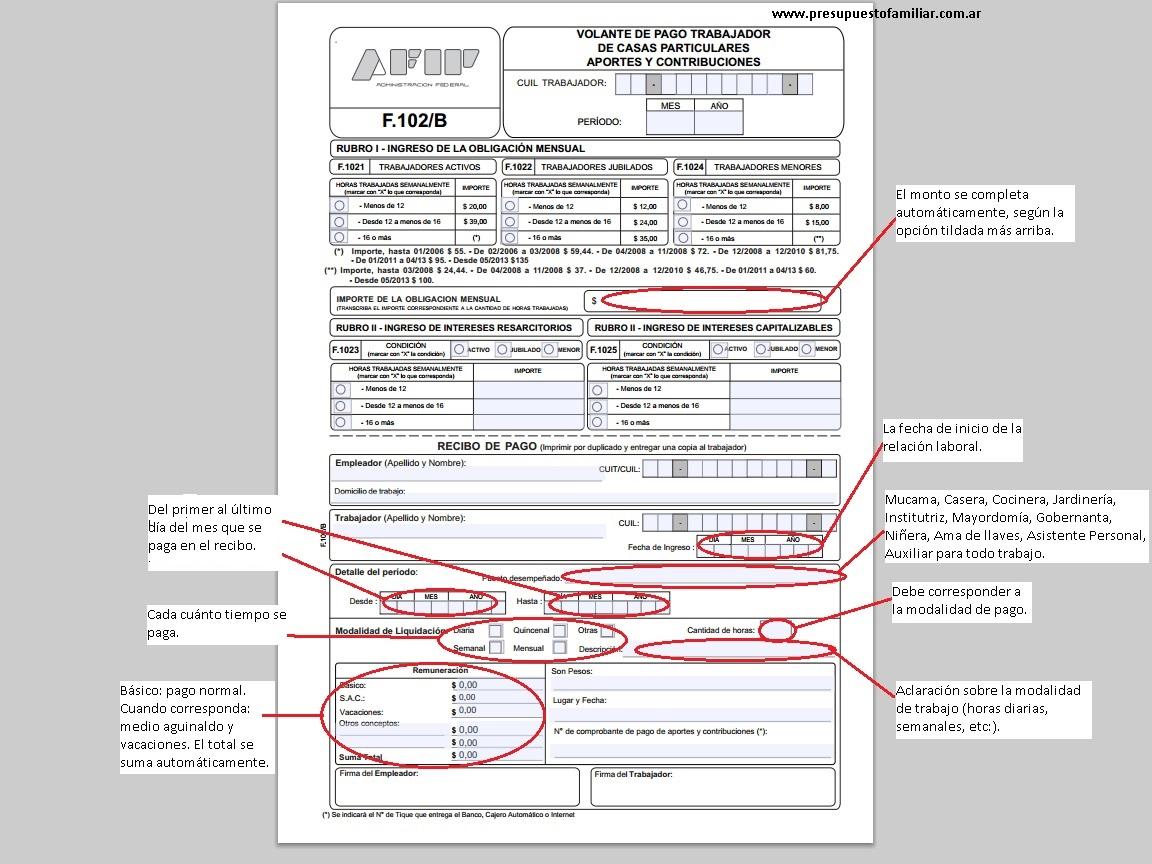 Empleada dom stica c mo es el formulario de pago for Formulario trabajadores del hogar