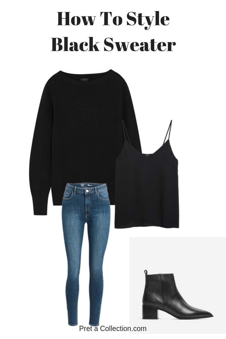 How to style a black sweater