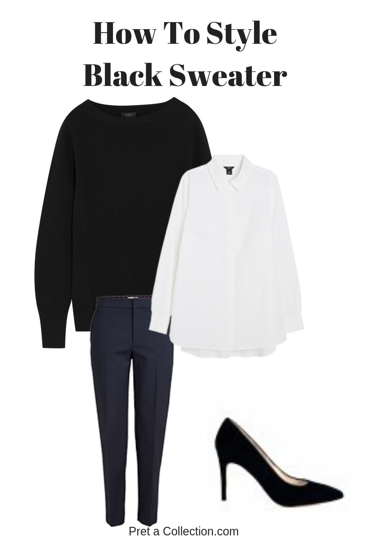 How to style Black sweater