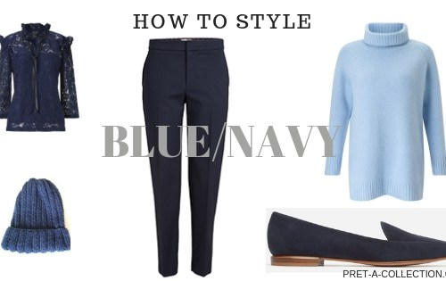 How to Style Blue/navy in a capsule wardrobe