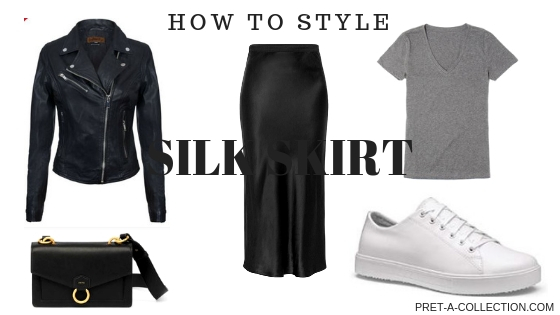 How to style the silk skirt