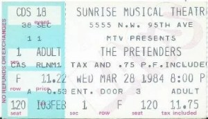 pretenders live shows 1984