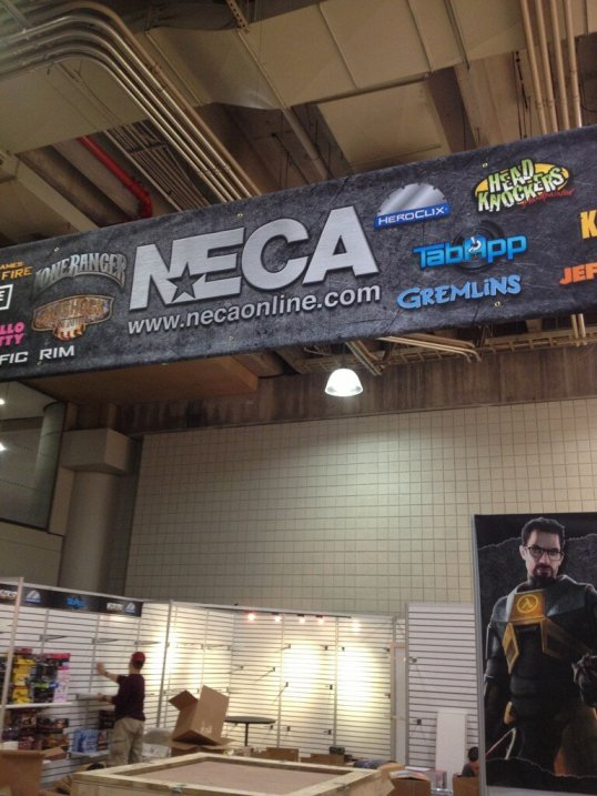 Toy Fair 2013 - NECA Booth Banner