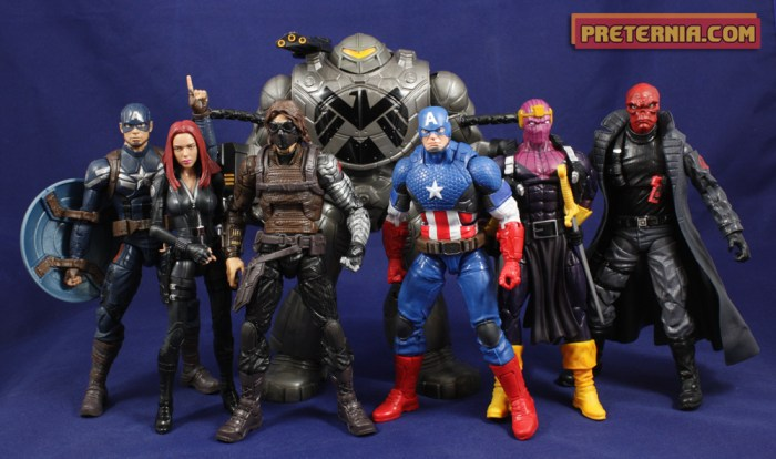 Hasbro Marvel Legends Mandroid BAF Review Captain America
