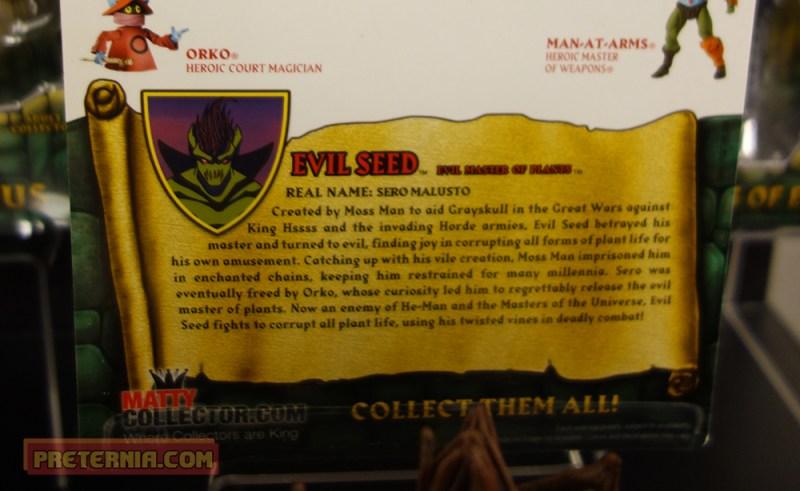 Toy Fair 2015 Mattel MOTUC 200x Evil Seed Bio