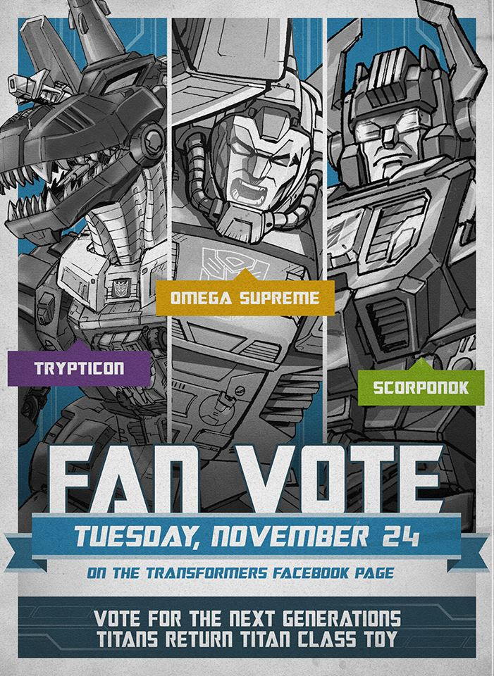 Hasbro Transformers Titan Returns Fan Vote