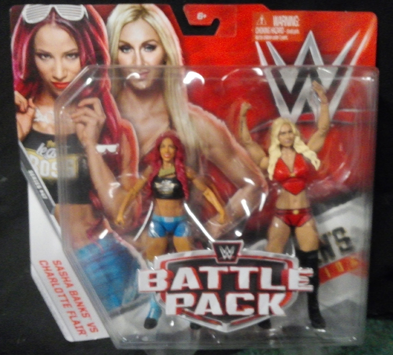 WWE Mattel Battle Packs Series 47 Sasha Banks VS. Charlotte Flair Review