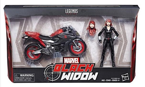 Marvel Legends Black Widow Rider Carded