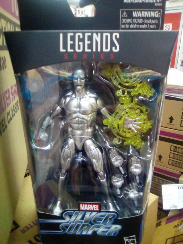 Hasbro: Marvel Legends Walgreens Exclusive Silver Surfer In Hand Picture