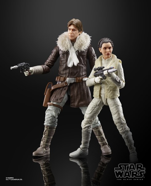 STAR WARS THE BLACK SERIES HAN SOLO AND PRINCESS LEIA ORGANA Figures - oop2