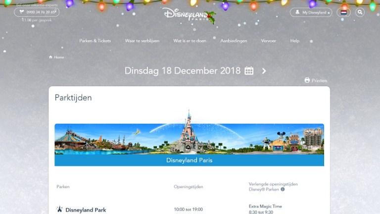 Disneyland Parijs openingstijden