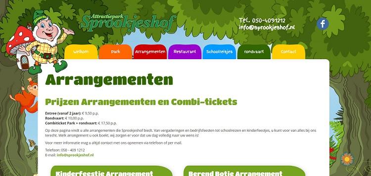 Kortingen attractiepark Sprookjeshof