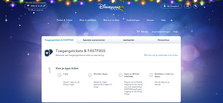 Tickets Disneyland Parijs