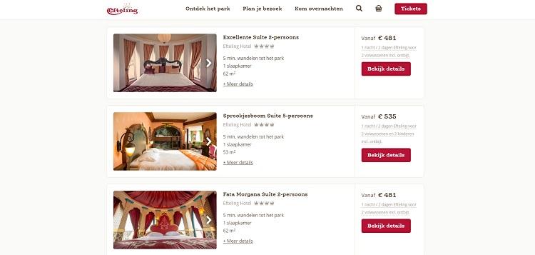 Efteling hotel suites