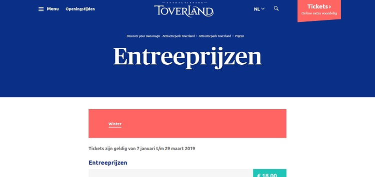 Toverland entree