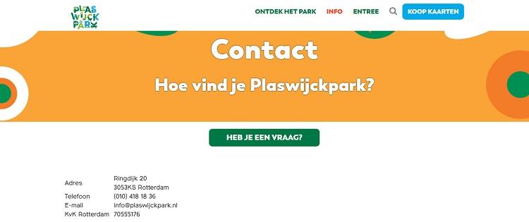 Plaswijckpark adres