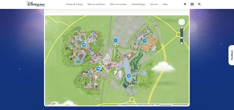 Plattegrond Disneyland Parijs