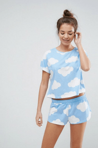 ASOS Cloud Print Tee & Short Pyjama Set