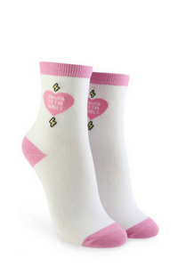 Forever 21 Power To The Girls Graphic Crew Socks