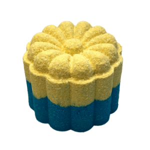 Blue and Yellow bath bomb