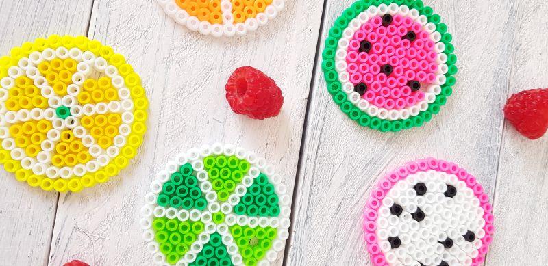 Farbenfrohe Kinkerlitzchen Bugelperlen Obst 2