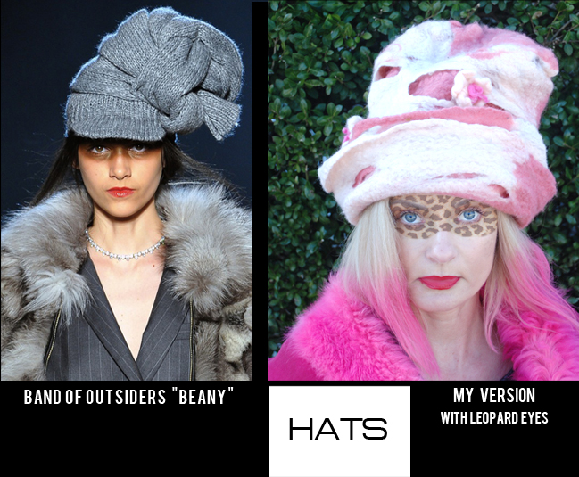 Band of Outsiders Hat Fall 2013 NY Fashion Week