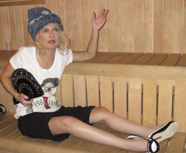 Magda in a sauna