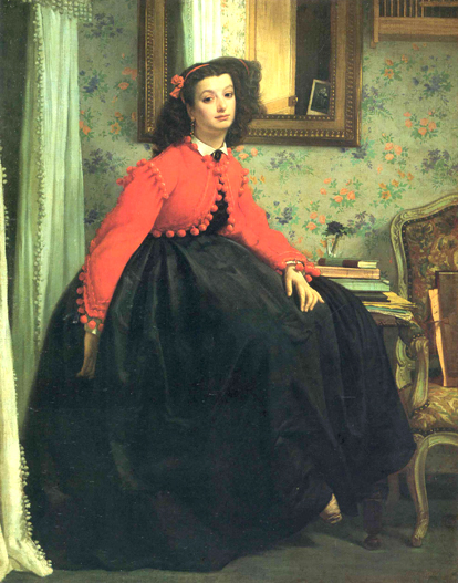 James Tissot Mademoiselle Painting