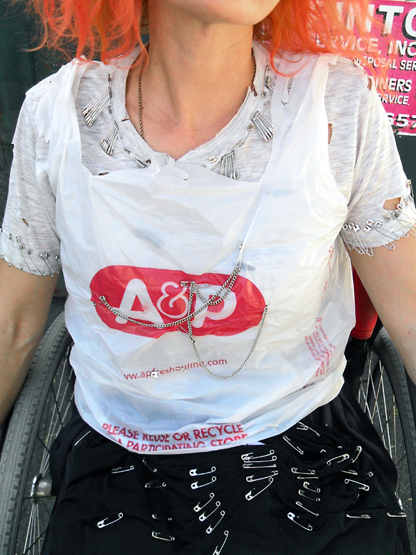 Recycled upcycled plastic tshirt