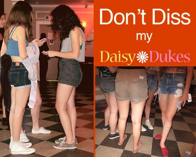 Teens in Daisy Duke Denim Shorts