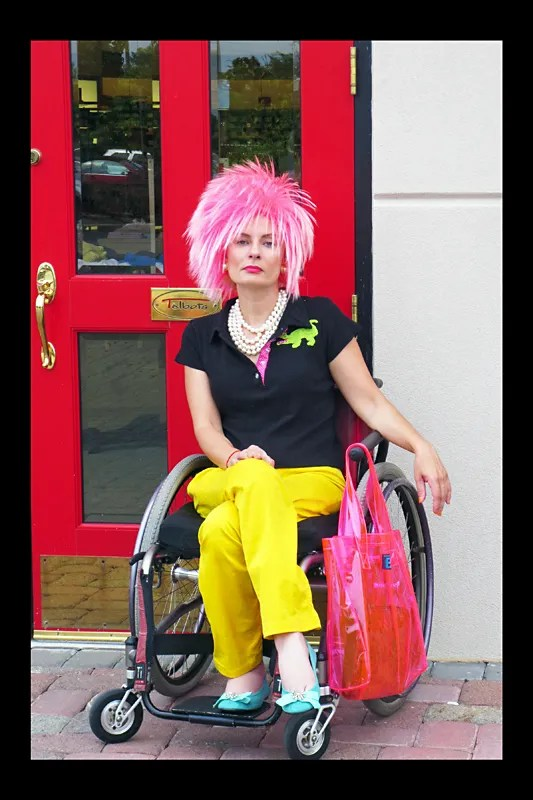 punk-preppy wheelchair fashion street fashion