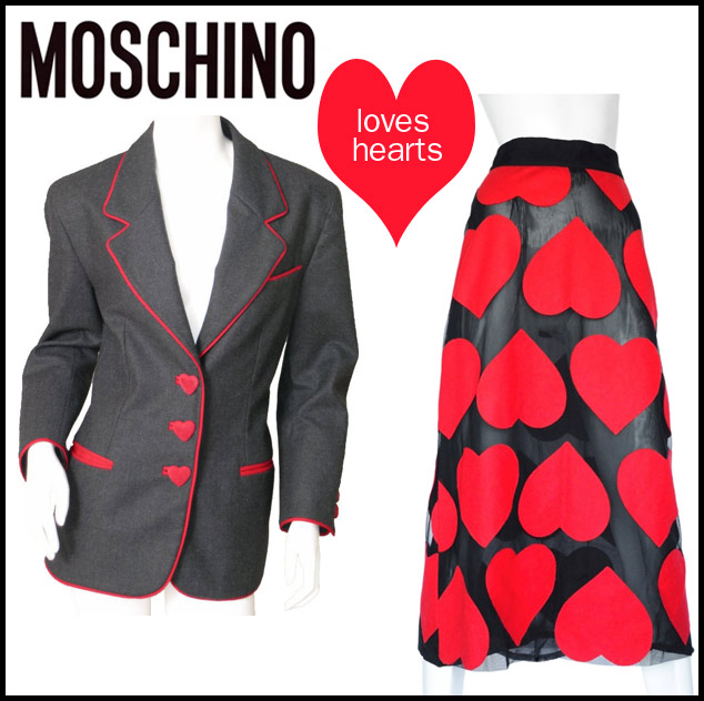 Moschino heart themes in fashion