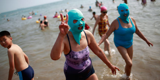 face-kini-women-in China