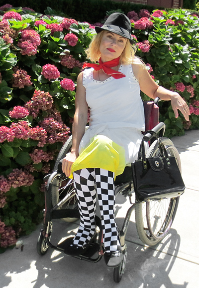 Wheelchair disabled rude girl ska fashion street style
