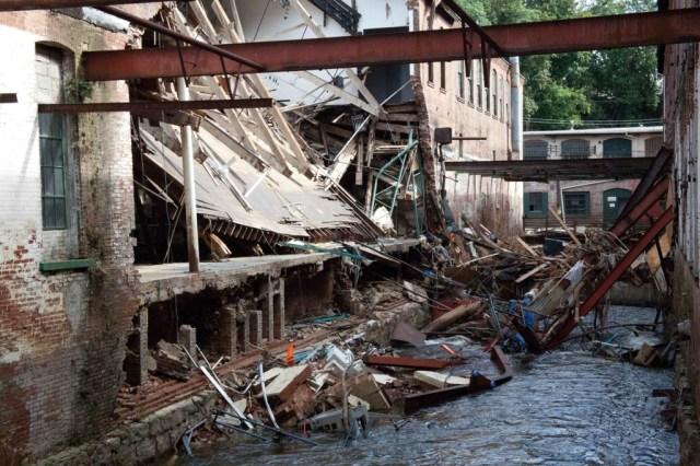 Hurricane Irene destruction of GAGA arts center NY