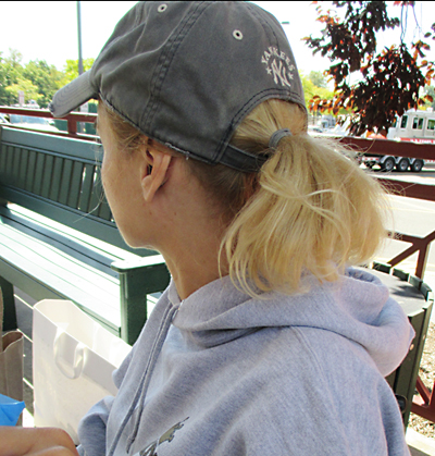 Old-yankees-baseball-cap-withpony tail through back