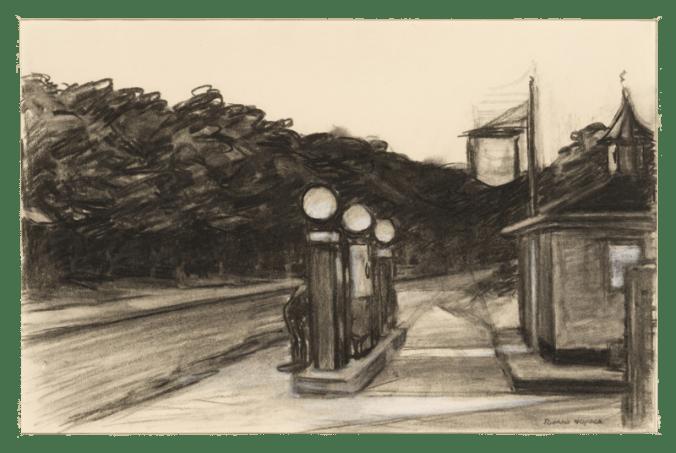 Gas study Edward Hopper