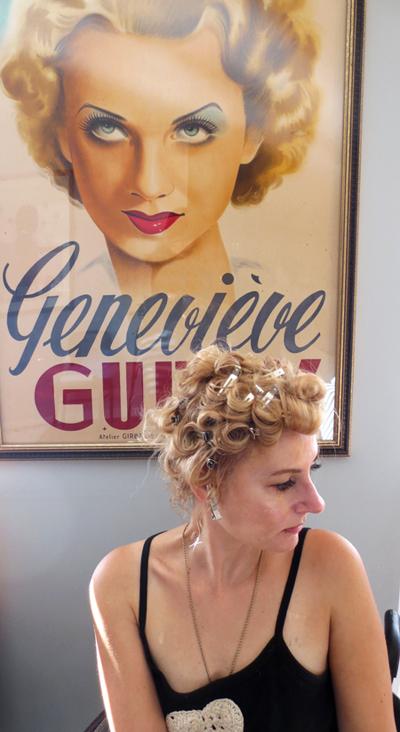 Pin Curls hairdo