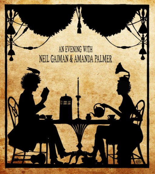 evening with amanda palmer neil gaiman image