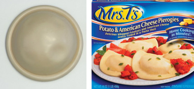Diaphragm compared to Mrs T's pierogies