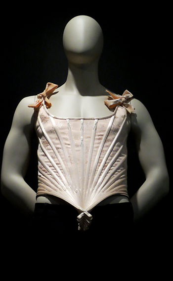 Male corset Gaultier exhibit