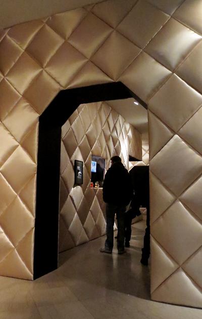 Boudoir room Gaultier exhibit