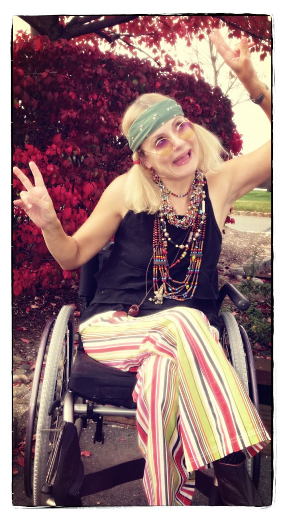 pretty cripple dressed as Janis Joplin