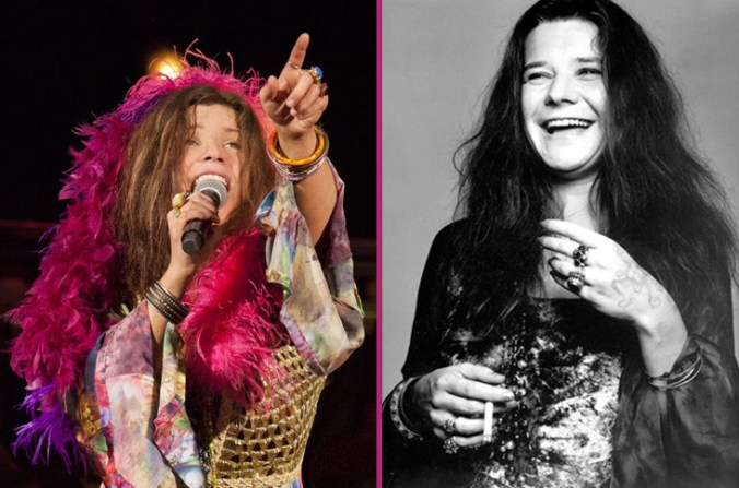 Mary Bridget Davis and Janis Joplin