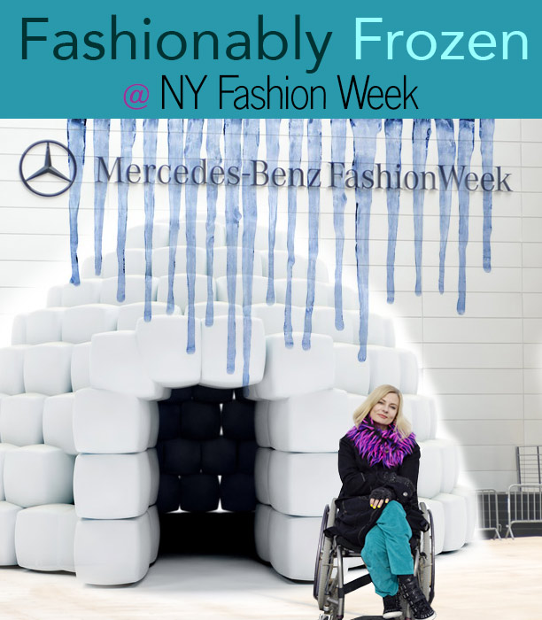 Fashionably frozen at fall fashion week