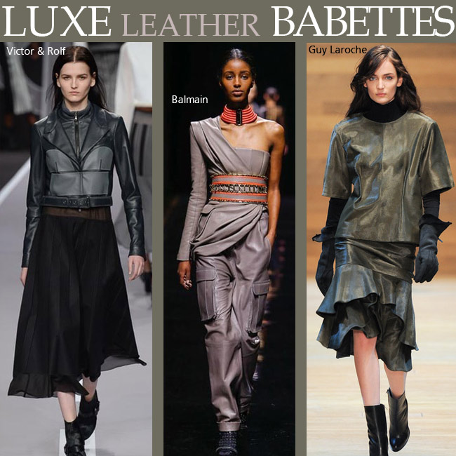 Luxe leather babettes at Paris Fashion Week 2014