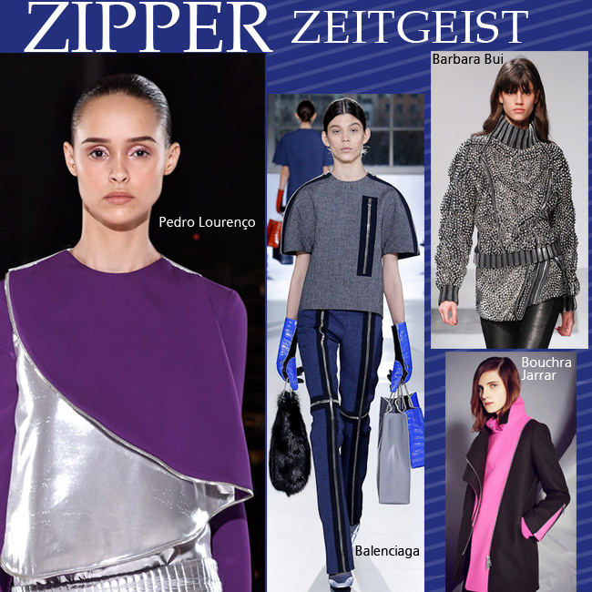 Zipper zeitgeist fall paris fashion week 2014